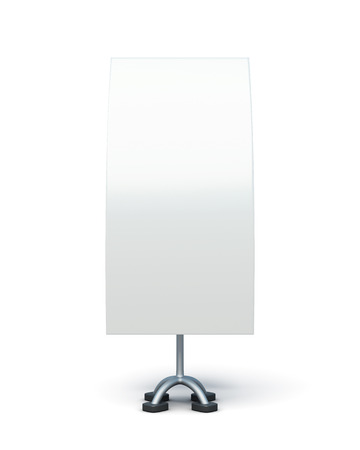bilateral: Bilateral advertising stand isolated on a white background. Front view. 3d rendering