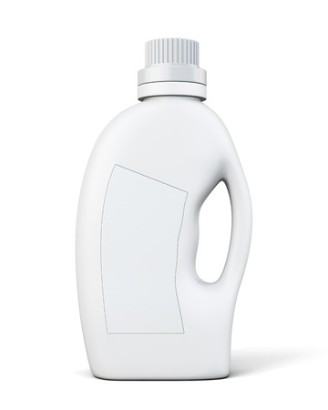 receptacle: Bottle conditioning or detergent. 3d illustration on white background