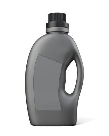 balm: Black bottle conditioning or detergent. 3d illustration on white background