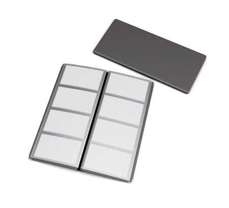 business card holder: Business card holder isolated on white background