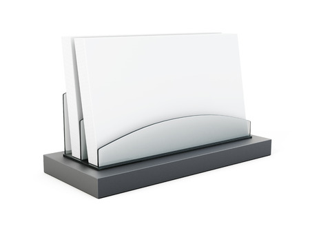card holder: Business card holder on white background. 3d rendering.