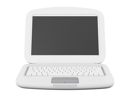 laptop isolated: Laptop isolated on white background. 3d rendering.