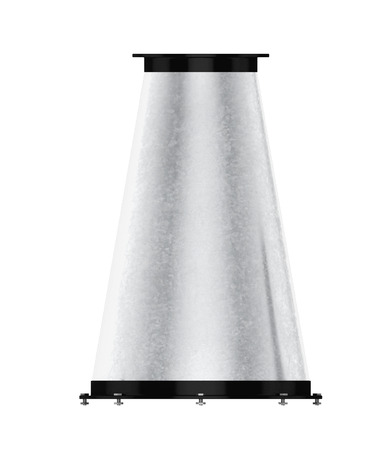 vent: Transition duct isolated on a white background. 3d rendering