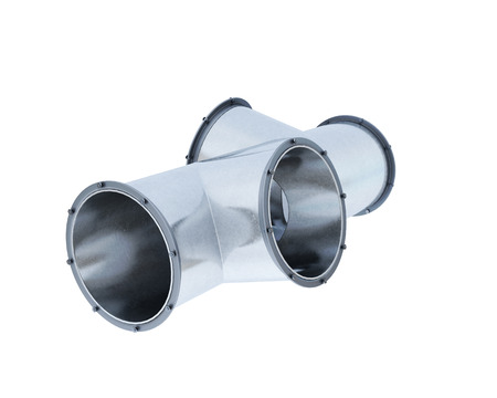 fitting: Pipe fitting isolated on white background. 3d rendering.