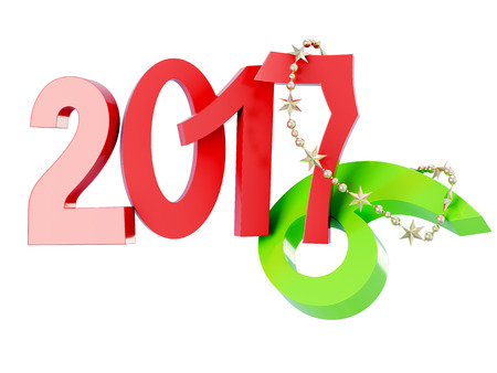 replaces: New 2017 2016 replaces isolated on white background. 3d rendering.