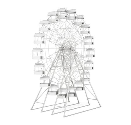 big wheel: Big wheel white background. 3d rendering.