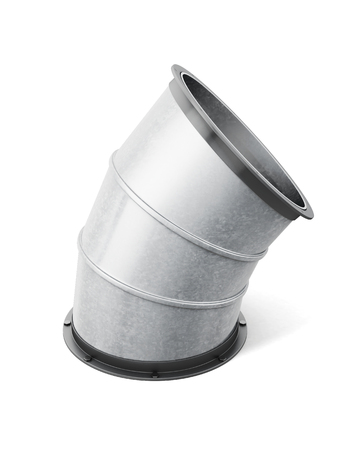 pipe connector: Pipe connector isolated on the white background. 3d rendering.