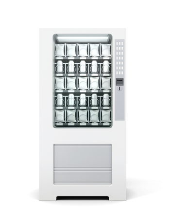 Vending machine for snacks and soda isolated. Front view. 3d rendering.