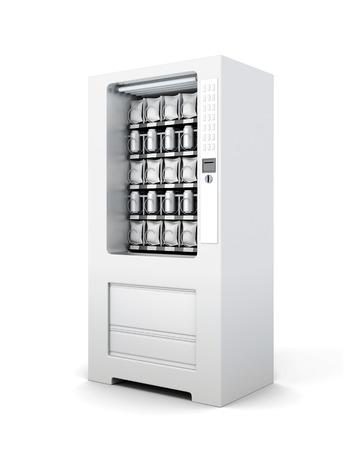 スナックと分離されたソーダの自動販売機。3 d レンダリング。 写真素材 - 70380234