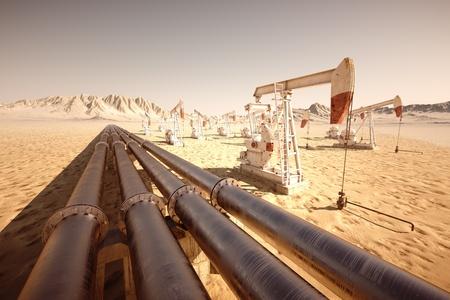 pozo petrolero: Bomba de aceite Jack mecedora
