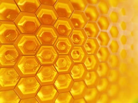 golden honey: Honeycomb.