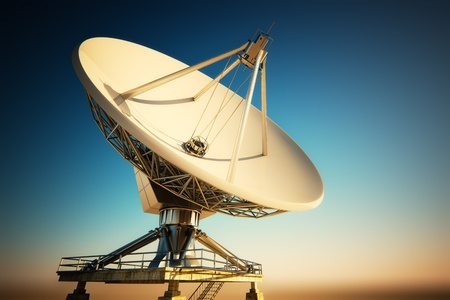 Radioteleskop. Standard-Bild - 17456281