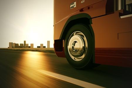 Camion sur la route.