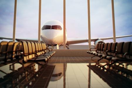 Letištní terminál Reklamní fotografie