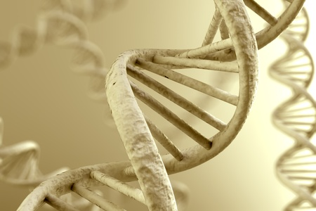 double helix: DNA double helix. High resolution 3d rendering. Stock Photo