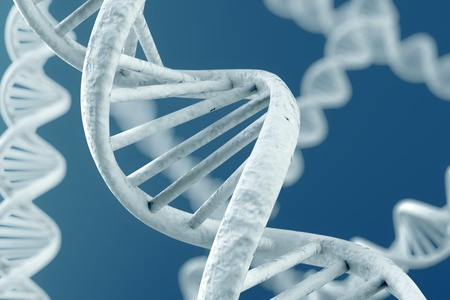 double: DNA double helix. High resolution 3d rendering. Stock Photo