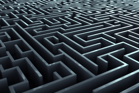 Kompliziert labirynth Korridore. Standard-Bild - 19745579
