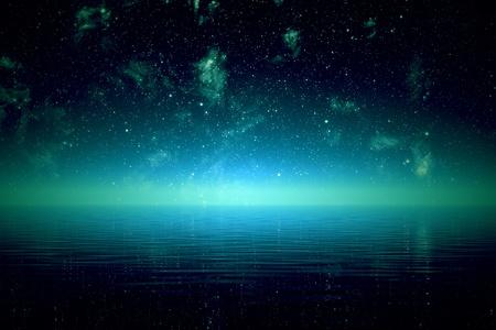 Starry Nacht über dem Meer Standard-Bild - 19745673
