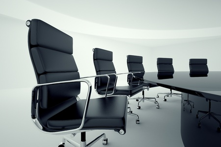 View on office chairs in a board room  Stock Photo