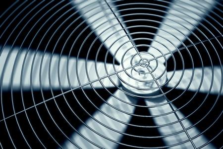 exhaust fan: Spinning fan closeup