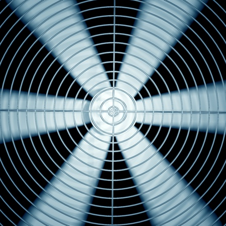 air duct: Spinning fan closeup