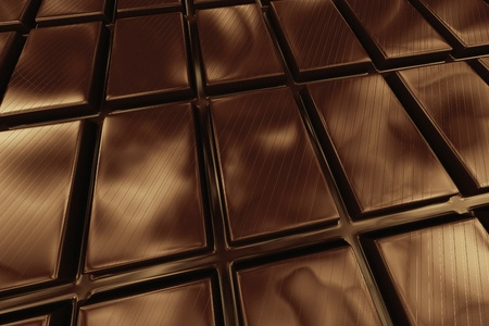free radicals: Closeup on a dark brown chocolate. Most popular flavor in the world
