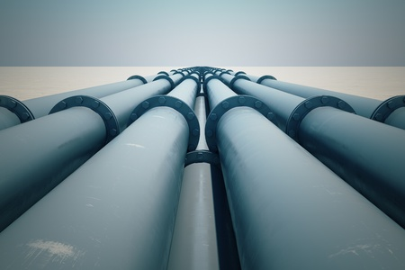 gas pipe:  Pipeline transportation is most common way of transporting goods such as Oil, natural gas or water on long distances.