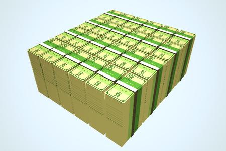hundred: Stacks Of Hundred Euro Notes