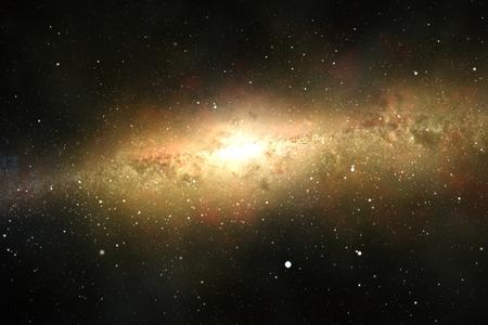 eliptica: Espectacular vista de una galaxia brillante, que consta de los planetas, los sistemas de estrellas, cúmulos estelares y tipos de nubes interestelares. El polvo espacial