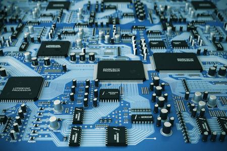 circuito integrado: Toma de la placa de circuito integrado. Foto de archivo