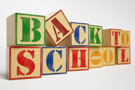 Back To School Text On Wooden Blocks
