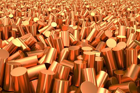 cobre: Close up de pura granulado cilíndrico de cobre.