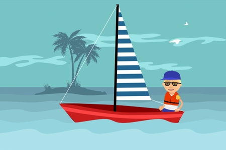 seaman: Seaman Wearing Life Jacket Sailing In Ocean