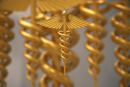 Rod Of Asclepius, symbol of healthcare and medical practice.