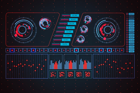 interface: Futuristic Graphic User Interface Fluctuating Graph Ratio Stock Photo