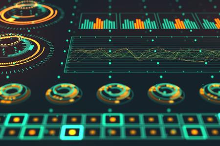 tecnologia informacion: Futurista Gr�fico Interfaz de usuario fluctuante Gr�fico Ratio