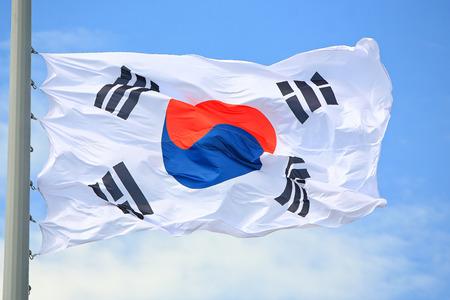 Flag of South Korea against the sky