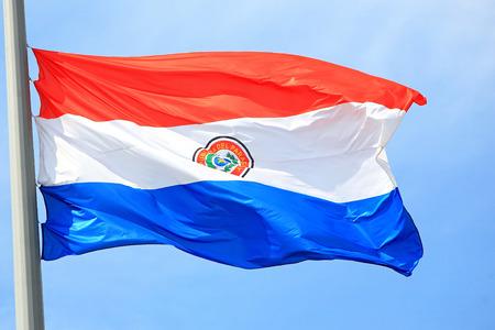 paraguayan: Paraguayan flag against the sky