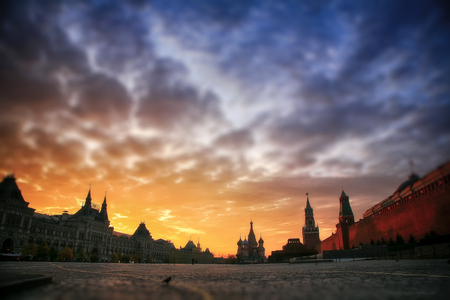 colourfully: Dawn on Red Square in Moscow