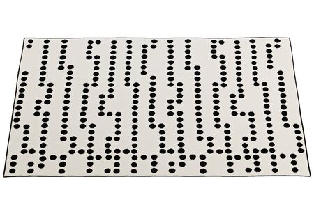 Modern rectangular beige rug with a dotted pattern on white background. 3d render Stock fotó - 138383111