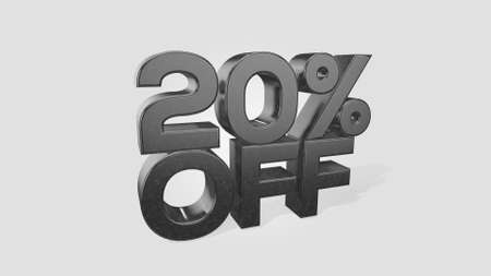 20% off 3d illustration use for landing page, template, ui, web, poster, banner, flyer, background, gift card, coupon, label, wallpaper,sale promotion,advertising, marketing