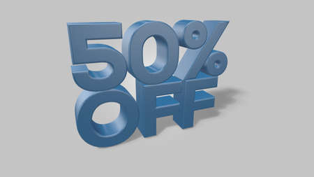 50% off 3d illustration use for landing page, template, ui, web, poster, banner, flyer, background, gift card, coupon, label, wallpaper,sale promotion,advertising, marketing