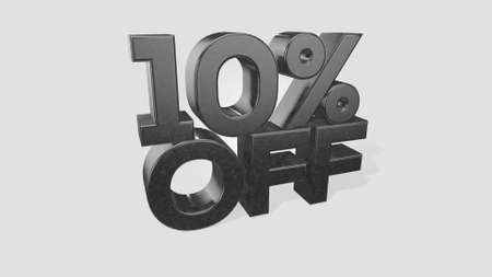 10% off 3d illustration use for landing page, template, ui, web, poster, banner, flyer, background, gift card, coupon, label, wallpaper,sale promotion,advertising, marketing