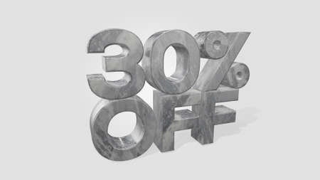 30% off 3d illustration use for landing page, template, ui, web, poster, banner, flyer, background, gift card, coupon, label, wallpaper,sale promotion,advertising, marketing 版權商用圖片