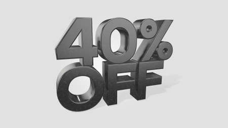 40% off 3d illustration use for landing page, template, ui, web, poster, banner, flyer, background, gift card, coupon, label, wallpaper,sale promotion,advertising, marketing