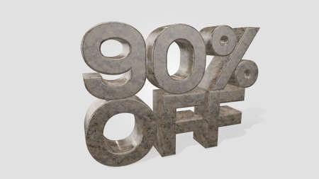 90% off 3d illustration use for landing page, template, ui, web, poster, banner, flyer, background, gift card, coupon, label, wallpaper,sale promotion,advertising, marketing