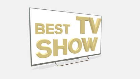 Best Tv Show emblem design illustration on white background