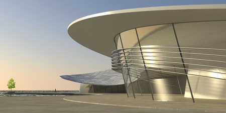 spacial: Large modern building showing spacious ultra-modern architecture