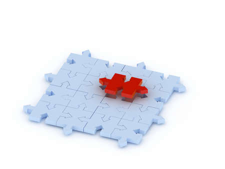 missing link: puzzle concept Stock Photo