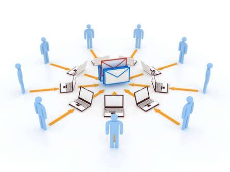 lettre: internet concept